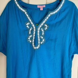 NWT Lilly Pulitzer Blue Valencia Top Small